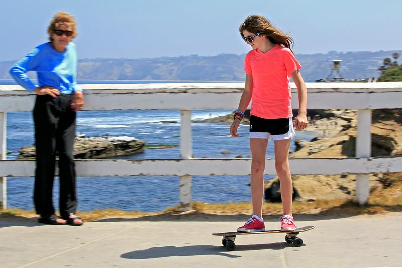 Peggy & Stella at La Jolla beach<br /> June 21, 2014