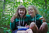 Stella and her school friend Éléonore, hiking near the cabin.<br /> September 6, 2010