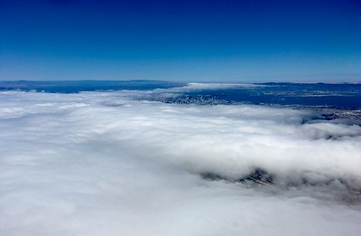 Leaving covered in fog San Francisco