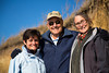"Jim, Julie and Sheila during our 2 mile ""road less traveled"" walk around the north end of the island"