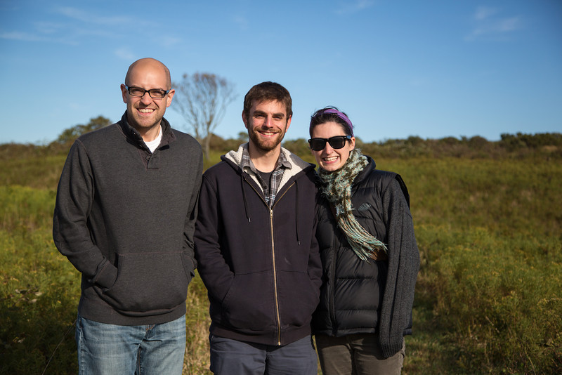 Pausing for a photo-op at the Hodge Family Preserve