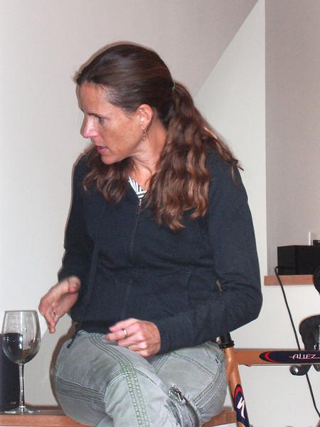 Leila Knox at the Rynecki house, Oakland