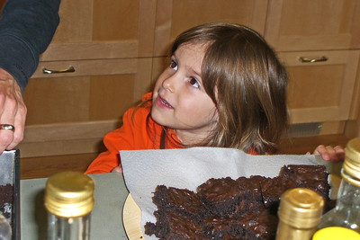 Hazel and brownies 1