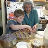 While Grandma and Sebastian made a cherry pie!