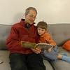 Grandpa did marathon reading to Elliot.