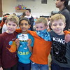 Owen, Ashvik, Sebastian, and Jackson at the school dance.