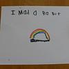 """I made a rainbow"""