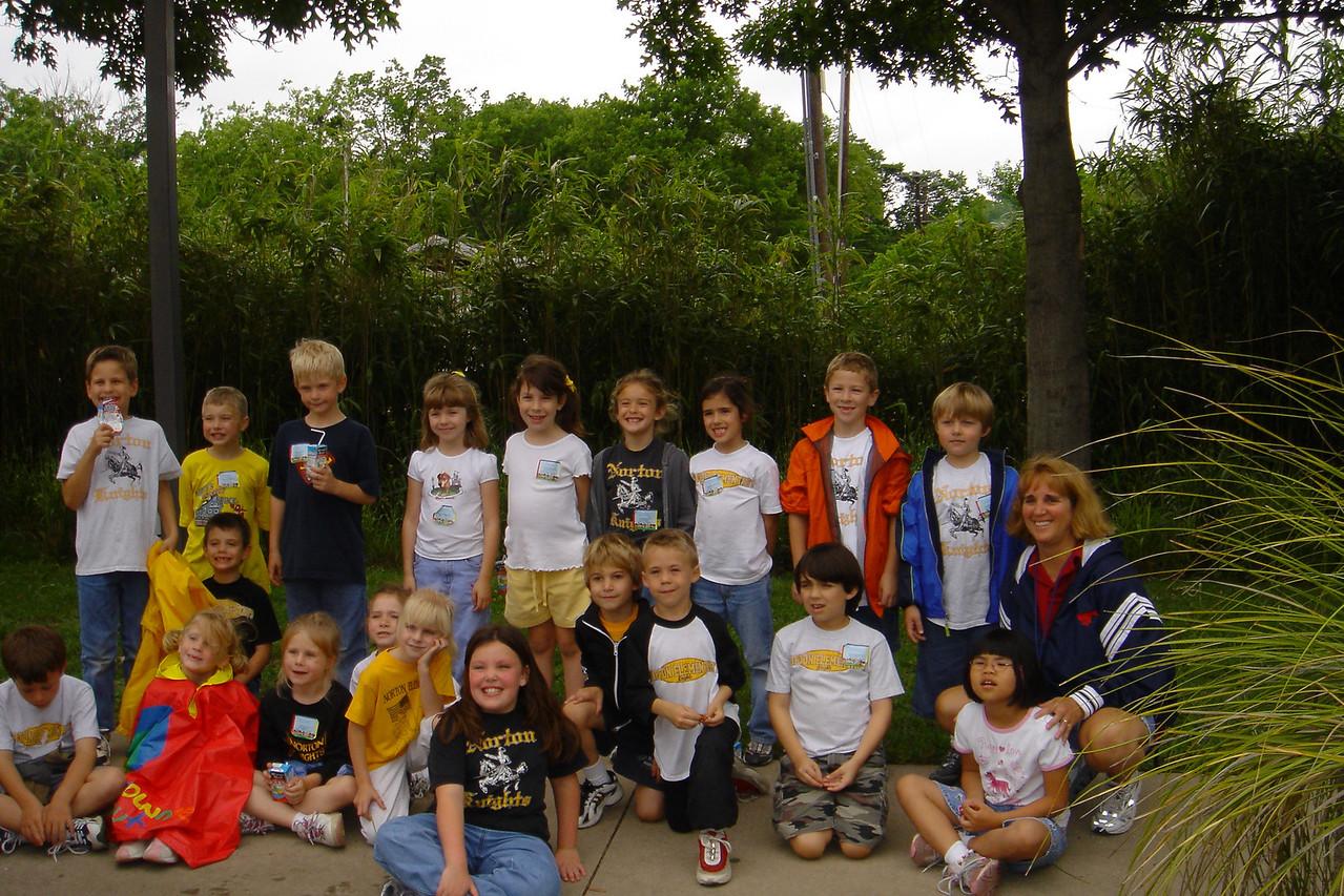 Reid's 2nd grade class with Mrs. Stewart.