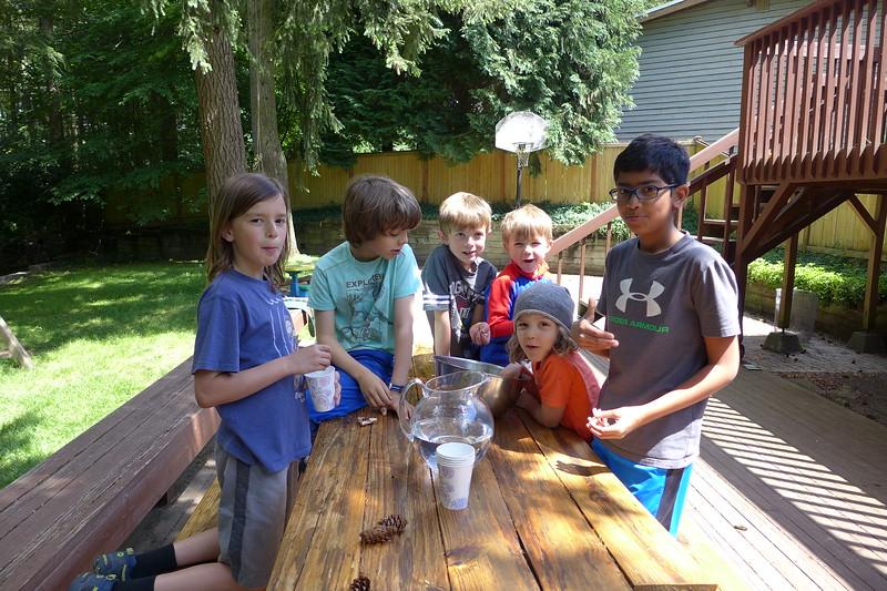 Gil, Axel, Sebastian, Elliot, Jake, and Om.
