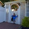 At the preschool door.