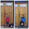 Elliot's first and last day of school.
