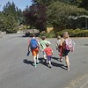 The gang walking home from school.
