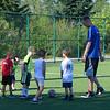 At soccer summer camp.