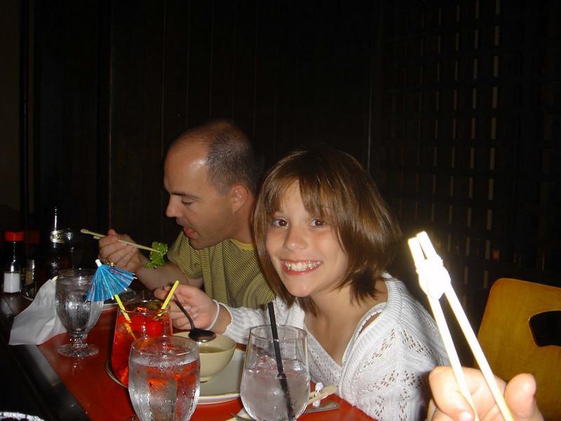 Eating at Kobe Steak.  Yum!
