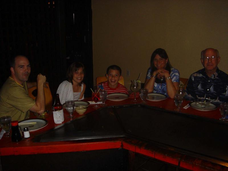 Dining at Kobe Steak.