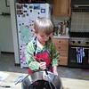 Making blackberry jam!