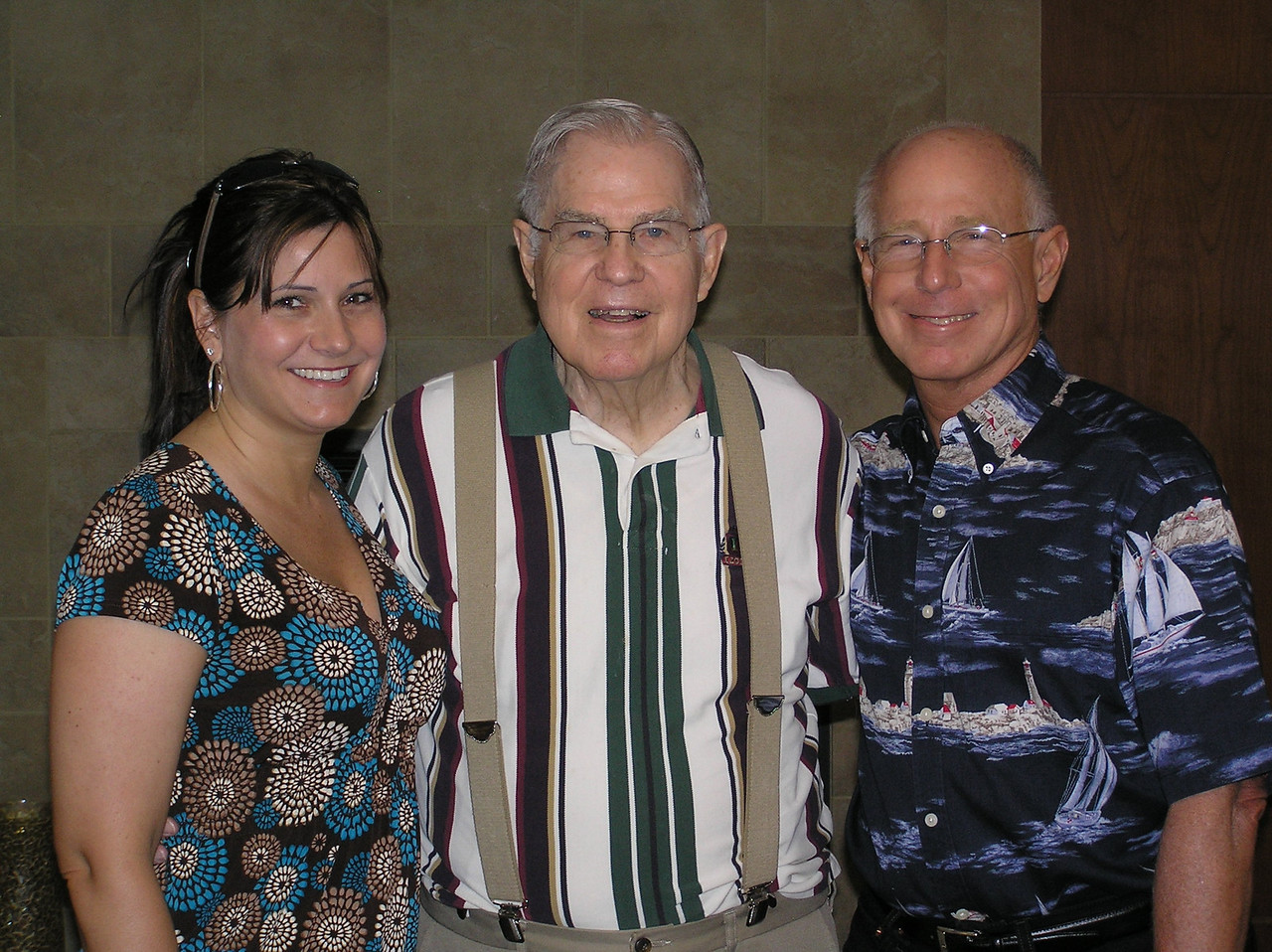 Wendy, Grandpa Jones and her Dad.