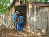 INSPECTING THE BARN<br /> Lyn telling Joe which ancient peanut butter jars she wants, and Joe trying to figure out a way to avoid getting bit by rattlesnakes while trying to fetch them for her.