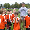 Sebastian's soccer team, with Owen, Sasha, Leo, Colin, Chase, Talan, Coach Scott, and Nate.