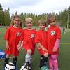 Elliot's soccer team, with Emma, Elliott and  Kaia.
