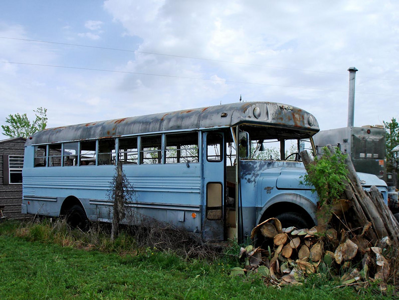 THE BLUE BUS<br /> In the film, this becomes the main character's home and art studio. the interior of the bus is still painted up as it was in the film. (This is not the bus they set fire to, though; they used a stunt double bus for that scene.)