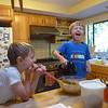 Making Elliot's birthday pumpkin pie
