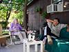 2010 - Carmel and Joe Miles on the porch at Star