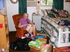 2010 - Carmel Miles sorting quilting pieces