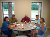 COUSINS OF THE ROUND TABLE<br /> Time to eat, and are we ready! This is Lyn, Doug, Ron, Peggy, and Shawna.