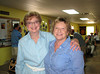 NELDA GREEN AND CAROLYN WILLIAMS<br /> A couple of cousins who seem very happy to see each other again. Carolyn has been instrumental in helping me remember who was who at the reunion, and supplied me with all the names of all the first cousins in the upcoming photos. Thank you so much, Carolyn!