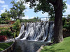 MILL POND PARK WATERFALL<br /> Since we had a little time on our hands (and no place to lay down and take a nap), Lyn and Joe and I decided to putter around Mill Pond Park and take some photos. In researching the area prior to the reunion, Lyn had fallen in love with the park, so we just had to visit. Fine by me!