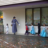 School parade, with Mrs Sowby = Mary Poppins leading the charge.