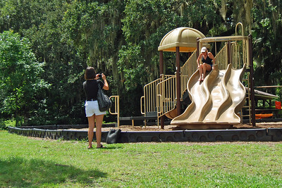 069 Lisa and Donna at Deleon Springs State Park