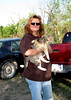 STACEY AND PUDDIN'<br /> The Miles home, Star, Texas<br /> <br /> Puddin' is one of the strays that hangs around the house, but has been adopted by the family. This is one sweet little kitty.