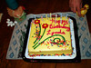 LYN'S BIRTHDAY CAKE<br /> And one final shot before we dig in and destroy it. Happy Birthday, Lynda!