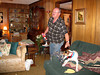 DOUG AND BUSTER<br /> The Miles home, Star, Texas<br /> <br /> We're back home now, and settling in for the night. The poor dog goes by the names of Buster, Snerdly, J.P., J.P. Snerdly, and whatever else you can cook up. He don't know who he is.
