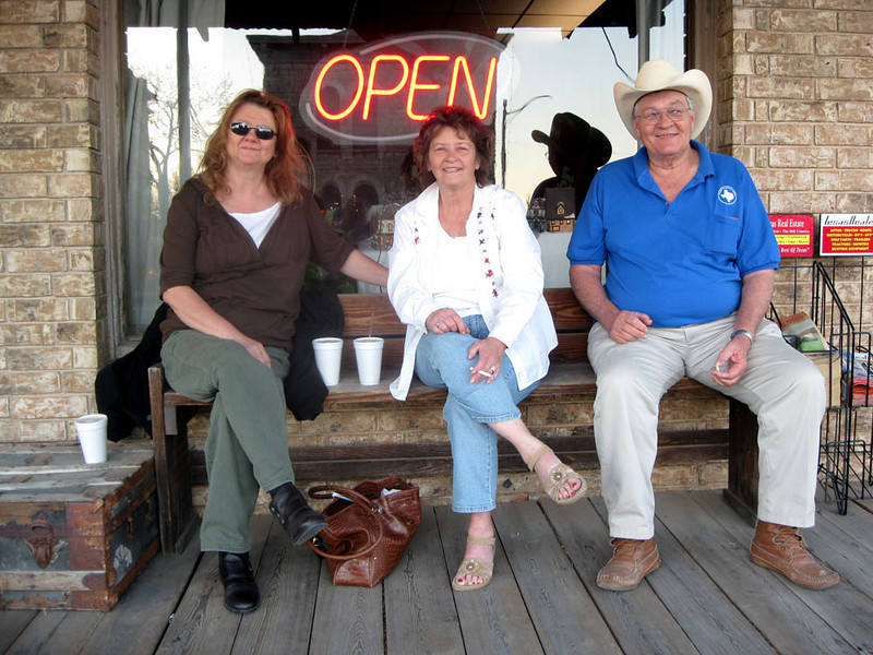 STACEY, LYN, AND JOE<br /> Wagon Wheel Restaurant, Goldthwaite, Texas<br /> <br /> We actually got a late start on the photo thing, beginning here with dinner after I'd arrived. They have the best catfish plate!