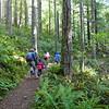 Hiking up Mt. Walker