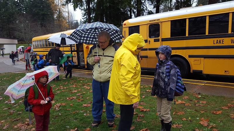 It didn't rain the whole trip!