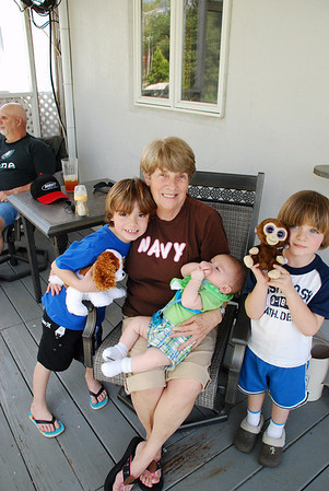 Aunt Judy, Dominic, Gabriel and Hayden