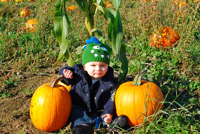 11, September & October:  Hayden's 1st tooth, and 1st Halloween