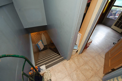 When I was here in 2008, I took a similar shot but never descended the stairs. I didn't repeat that mistake this time. But I don't think that the basement was worked on much.