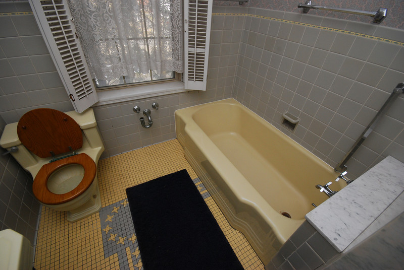 What were the pipes below the window used for? A bidet? A clawfoot tub?