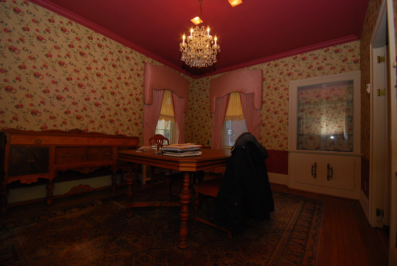 The dining room. This is the first room to get spanked!