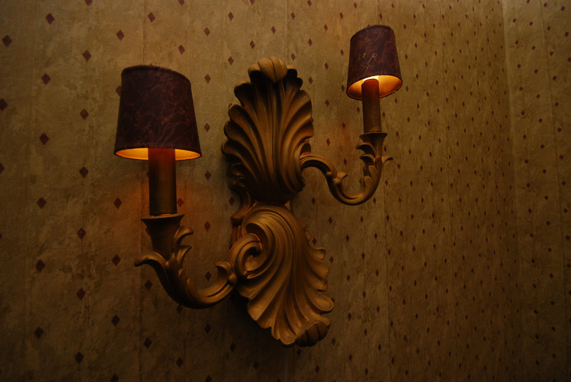 These sconces are scattered throughout the living room. They'll be long gone before the house-warming party.