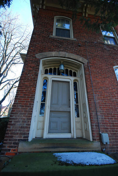 """The """"true"""" front door.  Warning: Purple ahead!"""
