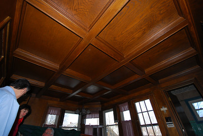 The ceiling in the breakfast room would make Opa swoon.