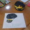 a thank you note to our friend Laura for the great pilot cap!