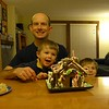 Gingerbread houses with Dad.