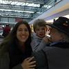 Brenda, Grandma Judy, and Grandpa Bill met us at the airport!